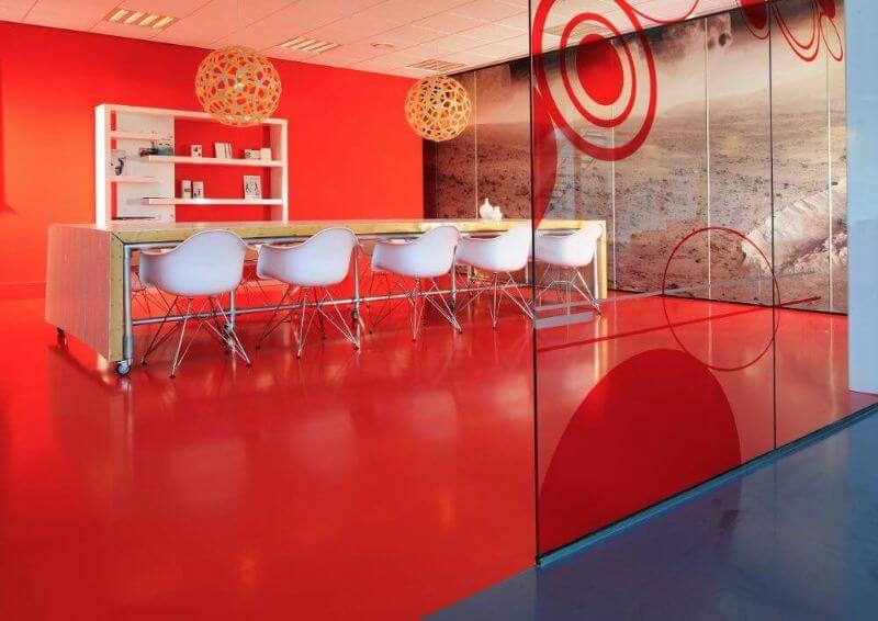 Arturo liata podlaha unicolor cervena - dizajnovepodlahy.sk1a