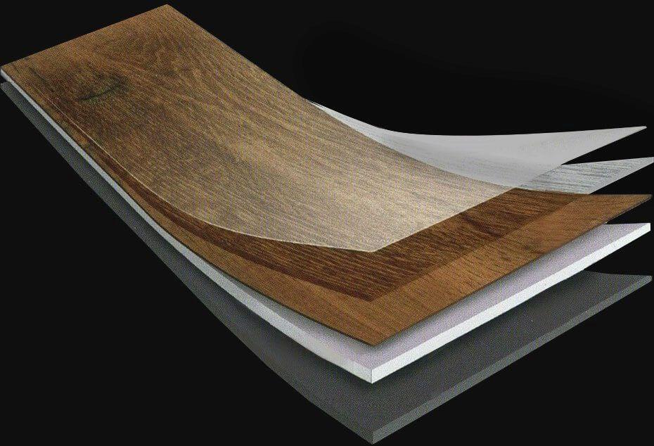 Vinylové podlahy majú zväčša takéto zloženie dielcov.