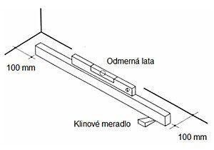 Príklad merania rovinnosti podkladu klinovým meradlom  - dizajnovepodlahy.sk