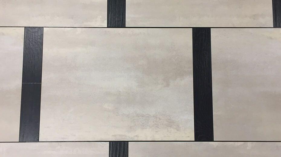 Príklad priemyselného dizajnu pri kladení podlahy